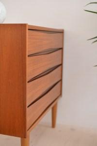 Teak Dresser (Four Drawers) Fredrik A. Kayser