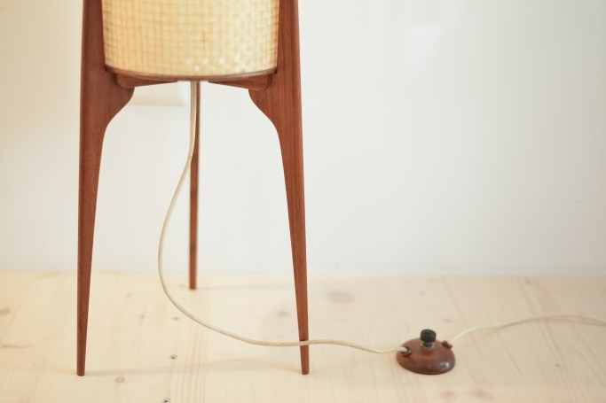 Danish Teak Tripod Floor Lamp