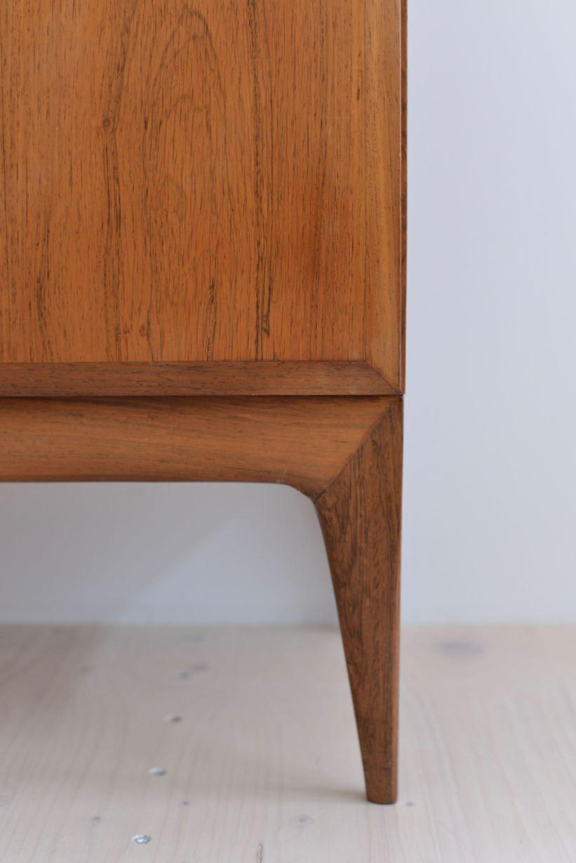 Palisander Cabinet Sideboard Rosewood Stroebel Frick Schweizer Swiss Production 1960s