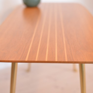 'Walnut and Brass' Side Table
