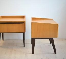 Pair of Bedside Cabinets Drawers Nachttische 1960s heyday möbel moebel Zürich Zurich Binz