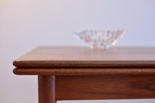 Teak Dining Table Extendable Made In Denmark 1960s heyday möbel moebel Zürich Zurich Binz