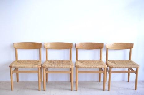 Borg Mogensen Oresund Oak Dining Chairs by Karl Andersson and Söner Denmark 1960s heyday möbel moebel Zurich Zürich Binz and Altstetten