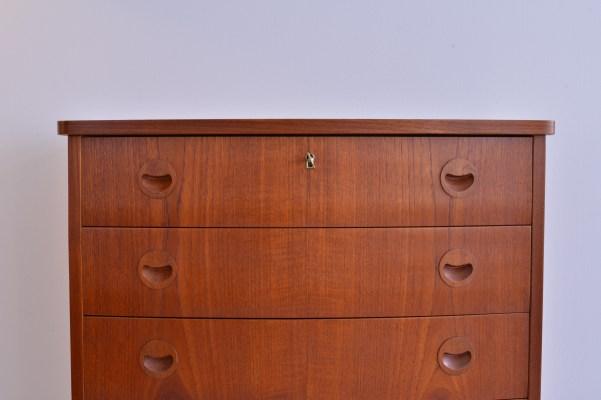 Kai Kristiansen Sever Drawer Dresser - 1960s Denmark