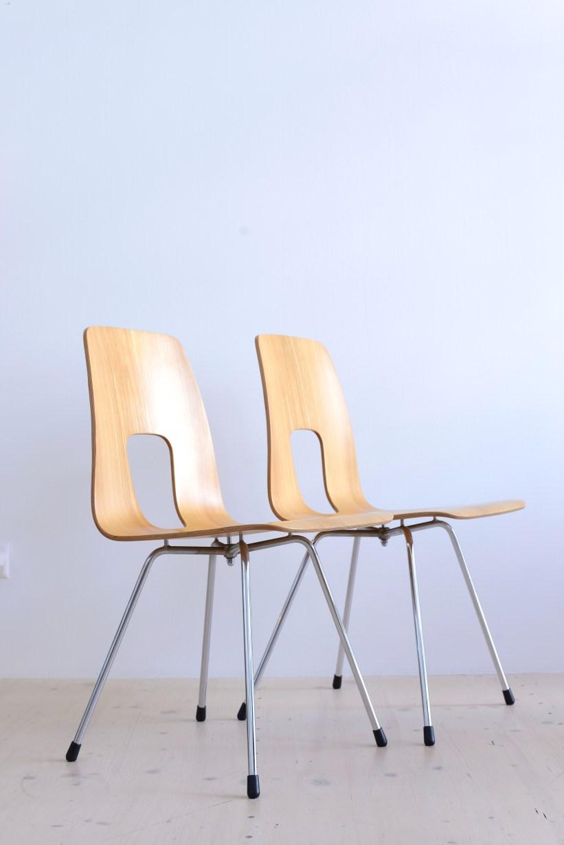 Hans Bellmann Einpunkt Stühle Chris in Maple Horgen-Glarus Switzerland heyday möbel mobel Zurich Zürich Binz
