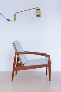 Kai Kristiansen Paper Knife Chair with Light Grey Kvadrat heyday möbel heydaymoebel