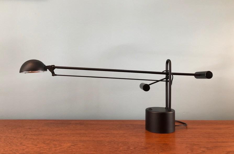 Black Halogen Cantilever Lamp