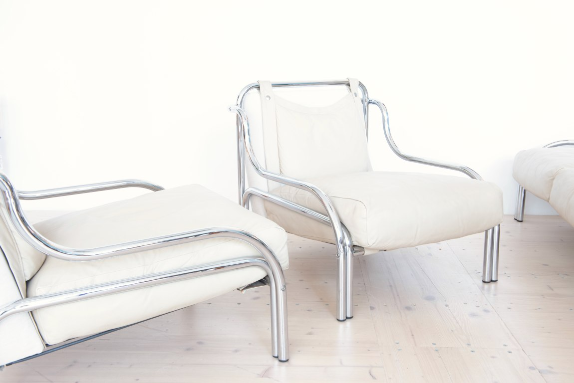 Gae Aulenti Stringa Lounge Set for Poltronova, Italy, 1963. Available at heyday möbel, Zurich Switzerland.