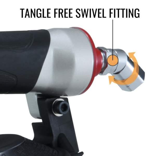 CN445R3 tangle free swivel fitting for hose