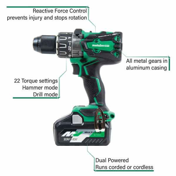 Metabo HPT Hammer Drill DV36DAM