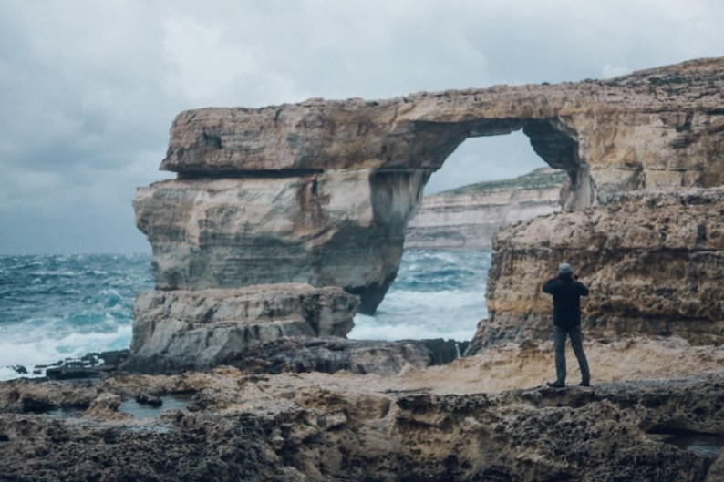 Travelling to Gozo, Azure Window