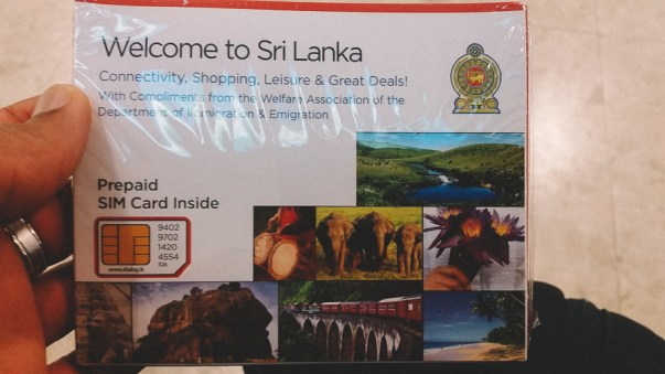 Sri-Lanka Welcome SIM Card
