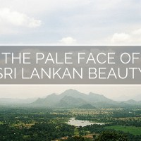 The pale face of Sri Lankan beauty