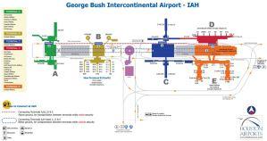 George Bush International Airport Map