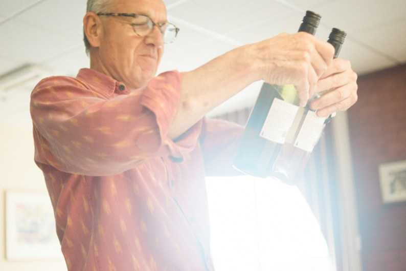 Sampling English Wine at the Seafood School Billingsgate