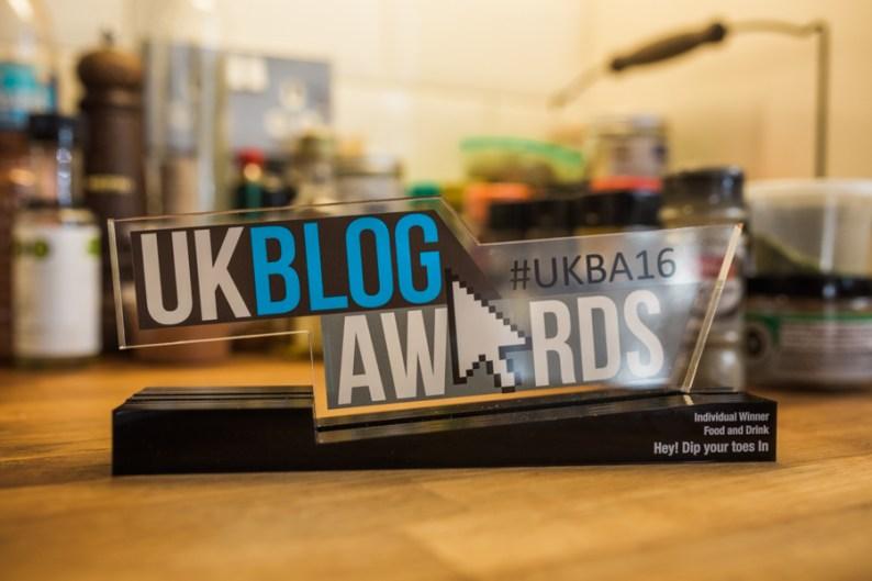 UKBA16 Winner of Best Food and Drink Award