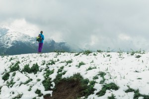 Hiking through Arlberg, Austria Alps