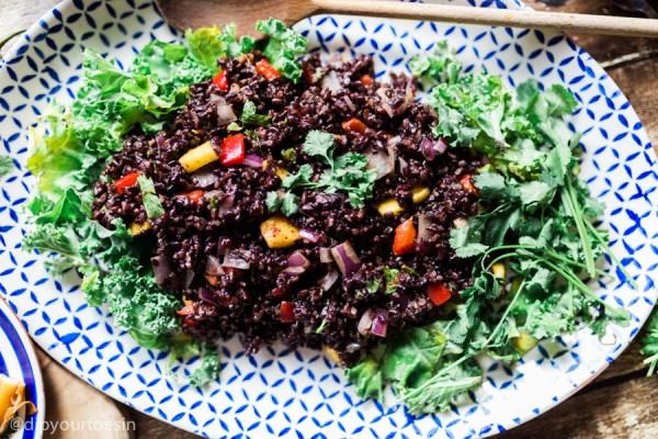 Plate & serve | Mango-Curried Black Rice | HDYTI