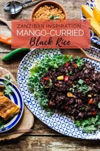 Mango-Curried Black Rice | via @dipyourtoesin