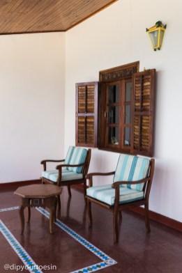 King room balcony at Zanzibar Serena Hotel