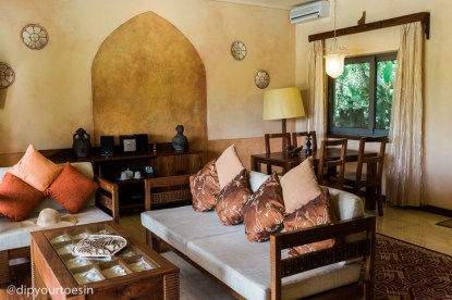 Interior of luxury villa at Zanzi Resort