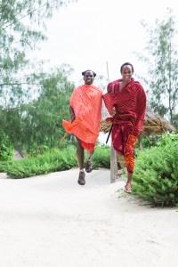 Massai jumping at Hakuna Majiwe in Paje, Zanzibar | @dipyourtoesin