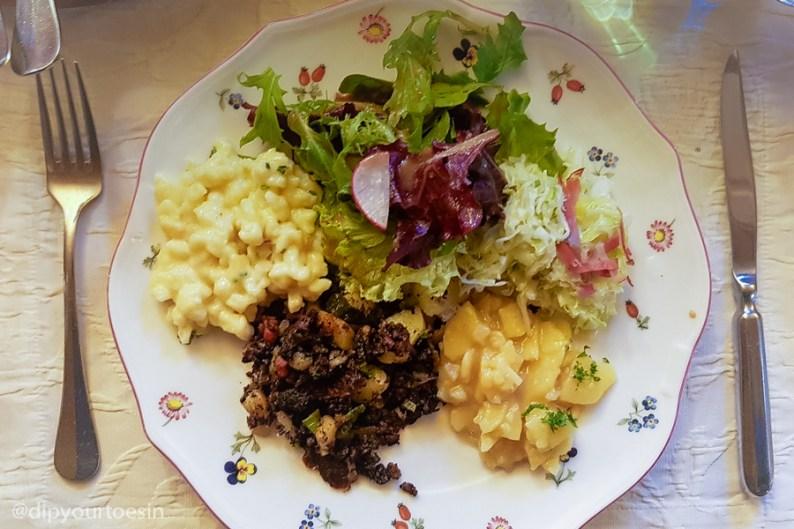 Kässpätzle and Grostl, Austrian food