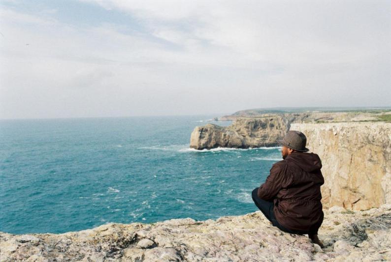 Looking out to sea in Portugal, Cabo de São Vicente, Algarve