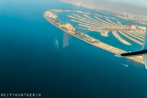 View of the Palm Jumeirah from Seawings Seaplane | @dipyourtoesin