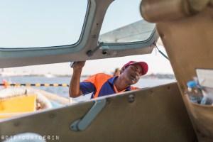 Flight crew checking Seawings Seaplane | @dipyourtoesin