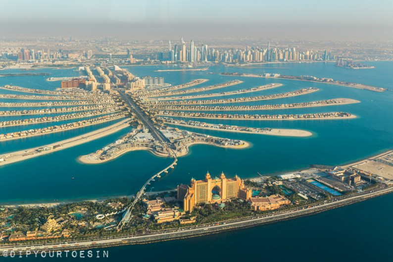 View of the PAlm Jumeirah from Seawings Seaplane   @dipyourtoesin