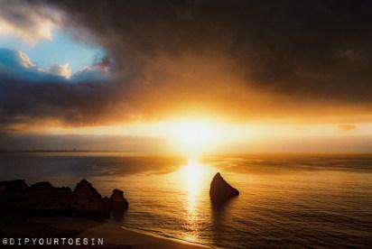 Sunrise at Praia Dona Ana, Lagos, Algarve, Portugal