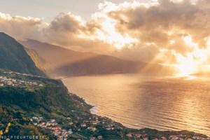 Madeira, Portugal   Sunset view at Ponta Delgada, São Vicente