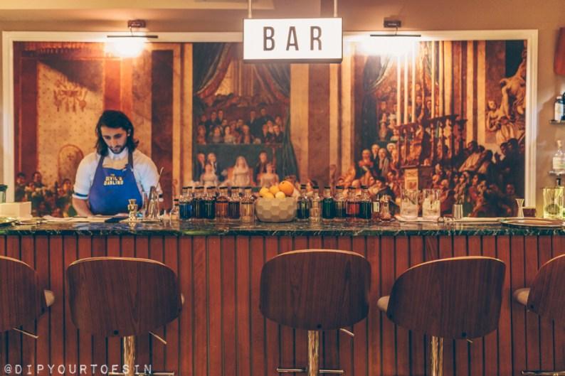 Cocktail at Devil's Darling, The Napoleon Hotel, London