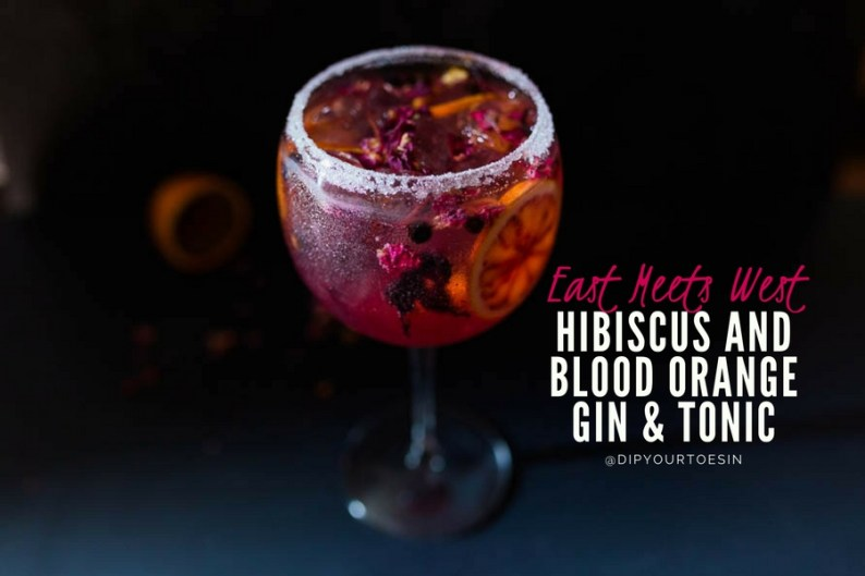 Hibiscus Blood Orange Gin & Tonic | ©HDYTI