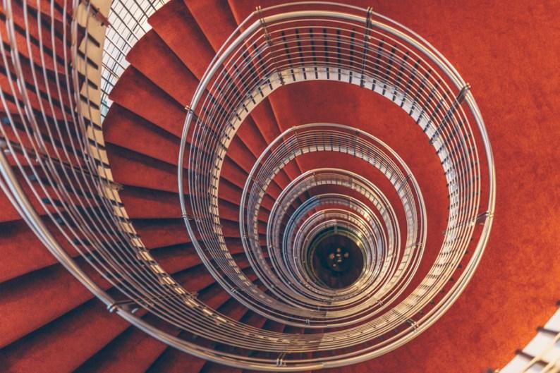 Spiral Staircase, Hilton Reykjavik Nordica Iceland
