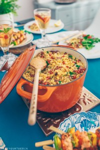 Rice Pilaf with Pomegranate & Ginger Vinaigrette