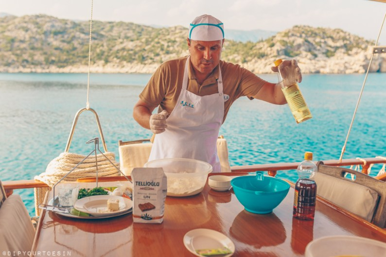 Cooking class onboard the Nemesis