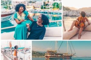 Girls trip aboard a yacht in Turkey