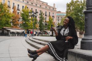 Cha McCoy is a black female sommelier based in New York City