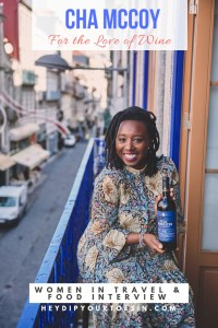 Cha McCoy, Black Female Sommelier, Wine Expert, Harlem, New York