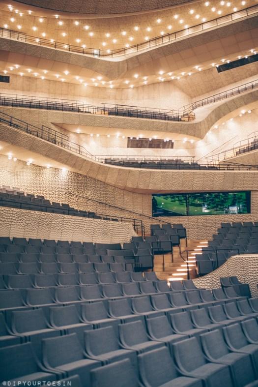 Hamburg photo journal | Inside the Elbphilarmonie concert hall, HafenCity, Hamburg