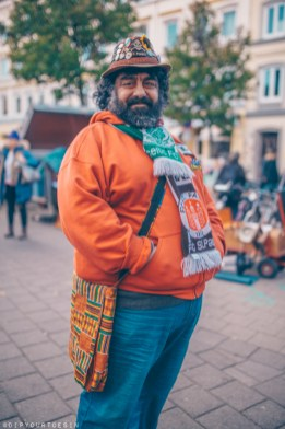 Colourful man standing in St. Pauli Hamburg