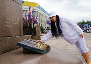 Woni Spotts Kazakhstan | First Black Woman to Travel To Every Country in the World