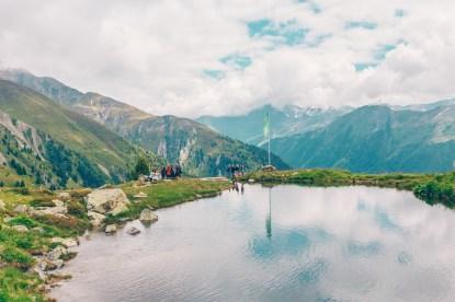 Mountain lake in Ischgl, Austria