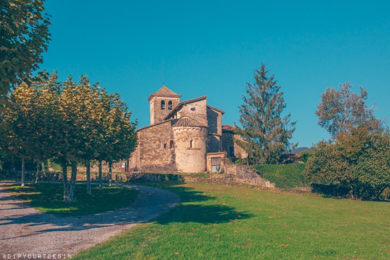 Medieval building in La Garrotxa, Girona Province