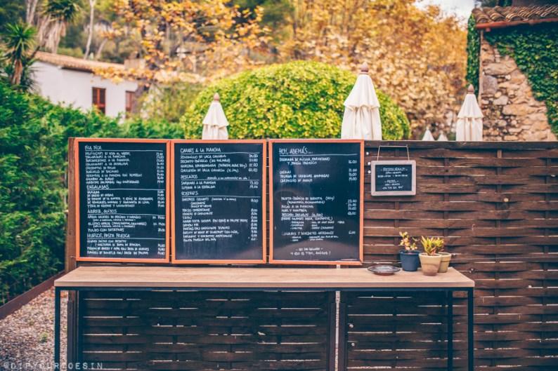 Hotel Sa Rascassa restaurant menu | Cala d' Aiguafreda