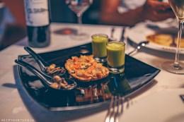 Eating at Cal Sastre, restaurant in Santa Pau