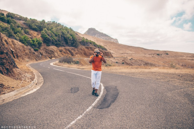 Walking along the north coast of Porto Santo