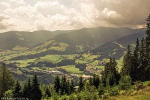 View of Saalfelden Leogang, Austria while hiking